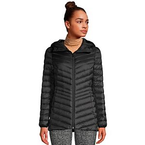Petite Lands' End Ultralight Hooded Packable Down Jacket
