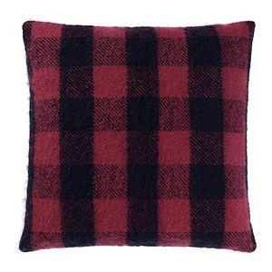 Cuddl Duds Plaid Faux Mohair Throw Pillow