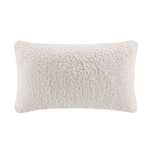 Cuddl Duds Snuggle Sherpa Embroidered Oblong Throw Pillow
