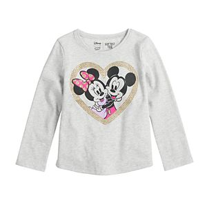 Disney's Minnie Mouse Toddler Girl Long-Sleeve Shirtttail Tee by Jumping Beans®