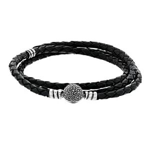 Lavish by TJM Braided Leather Cord Wrap Bracelet
