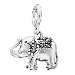 Lavish by TJM Sterling Silver Elephant Charm