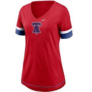 Women's Nike Philadelphia Phillies Mesh Logo Tee
