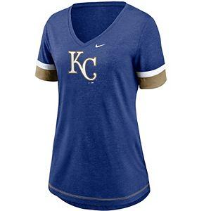 Women's Nike Kansas City Royals Mesh Logo Tee
