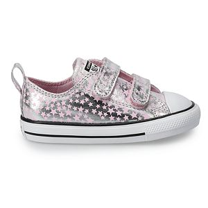 Toddler Girls' Converse Chuck Taylor All Star Metallic Star Sneakers