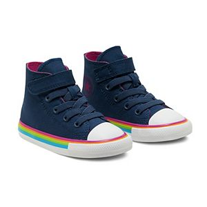Toddler Girl's Converse Chuck Taylor All Star Striped High Top Shoes