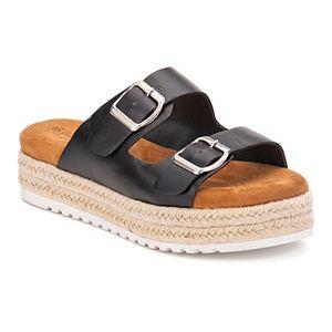 Olivia Miller Showdown Women's Espadrille Platform Sandals