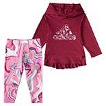 Baby Girl adidas Hooded Top & Tights Set