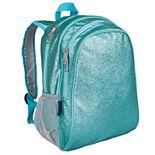 "Girls Wildkin Blue Glitter 15"" Inch Backpack"