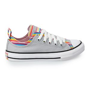Girls' Converse Chuck Taylor All Star Double-Upper Striped Sneakers