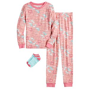 Cuddl Duds 4-14 Pajamas with Socks