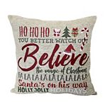 St. Nicholas Square® Holiday Word Throw Pillow
