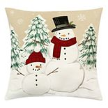 St. Nicholas Square® Snowman Buds Throw Pillow