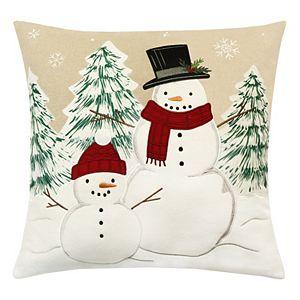 St. Nicholas Square® Snowman Buds Throw Pillow