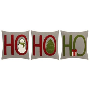 St. Nicholas Square® Ho Ho Ho 3-pack Throw Pillows