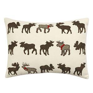 St. Nicholas Square® Appliqued Moose Throw Pillow