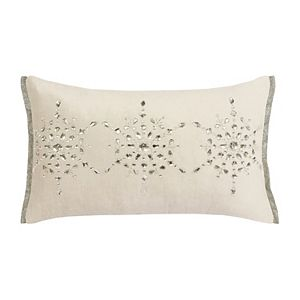 St. Nicholas Square® Beaded Snowflake Throw Pillow