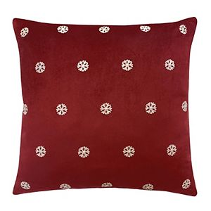 St. Nicholas Square® Embroidered Snowflake Throw Pillow