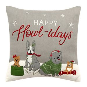 St. Nicholas Square® Dog Family Throw Pillow