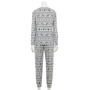 Women's Sonoma Goods For Life® Velour Long Sleeve Pajama Top & Pajama Pants Set