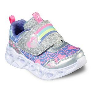 Skechers Heart Lights Toddler Girls' Light Up Shoes