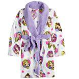 Disney Princess Girls 4-8 Hearts Plush Fleece Robe