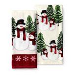 St. Nicholas Square® Yuletide Snowman Kitchen Towel 2-pk.