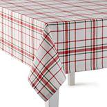 St. Nicholas Square® Holiday Plaid Tablecloth