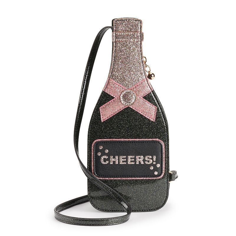 LC Lauren Conrad Champagne Bottle Crossbody Bag, Black