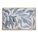 Gallery 57 Blue Leaves Canvas Wall Art