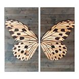 Gallery 57 Butterfly Wood Wall Art 2-piece Set
