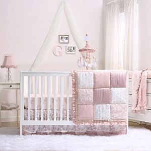 The Peanutshell Grace Patchwork 4-Piece Crib Bedding Set