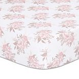 The Peanutshell Grace Floral Fitted Crib Sheet