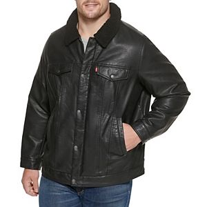 Men's Levi's Classic Faux-Leather Sherpa Lined Trucker Jacket