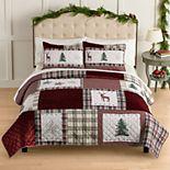 St. Nicholas Square® Woodland Patchwork Quilt Set with Shams