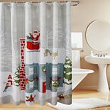 St. Nicholas Square® Holiday Scene Shower Curtain