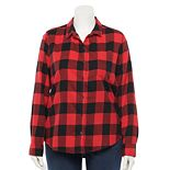 Juniors' Plus Size SO® Flannel Shirt