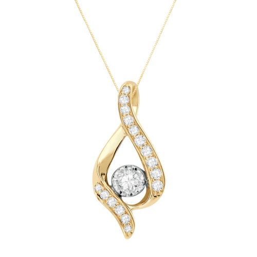 Sirena Collection 14k Gold 3/8-ct. T.W. Diamond Pendant