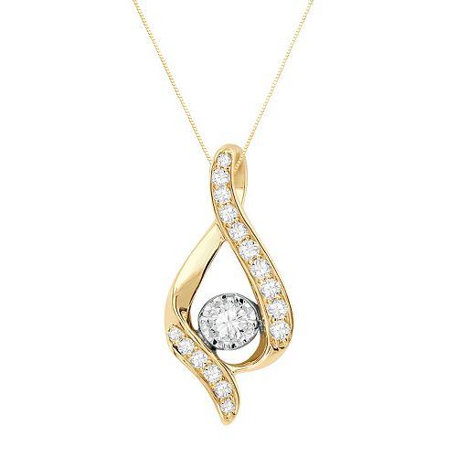 Sirena Collection 14k Gold 3/8-ct. T.W. Diamond Pendant