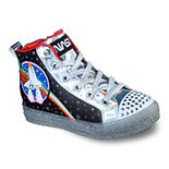 Skechers® Twinkle Toes Shuffle Brights Girls' Light Up High Top Shoes