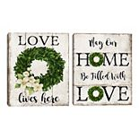 Fine Art Canvas Filled With Love & Love Lives Here 2-piece Wall Art