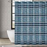 London Fog Mitchell Stripe Shower Curtain