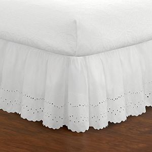 "Fresh Ideas Ruffled Eyelet 18"" Bed Skirt"