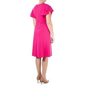 Women's Nina Leonard Button-Front Midi Dress