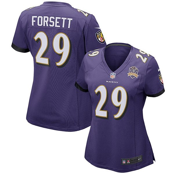 Women's Nike Justin Forsett Purple Baltimore Ravens Patch Game Jersey