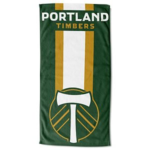 """The Northwest Company White/Forest Green Portland Timbers 30"""" x 60"""" Beach Towel"""