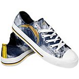 Women's Los Angeles Chargers Tie-Dye Canvas Shoe