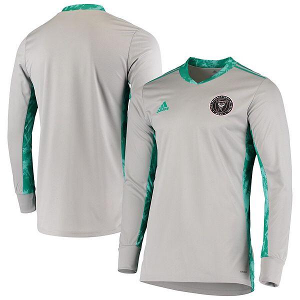 Men's adidas Gray Inter Miami CF 2020 Goalkeeper Long Sleeve Jersey