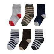 SONOMA life + style 6-pk. Striped Ribbed Crew Socks