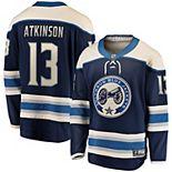 Men's Fanatics Branded Cam Atkinson Navy Columbus Blue Jackets Alternate Premier Breakaway Player Jersey